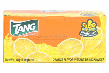 Tang Orange Instant Drink Powder 20 packs x 18gr/box/ Tang Orange Powder