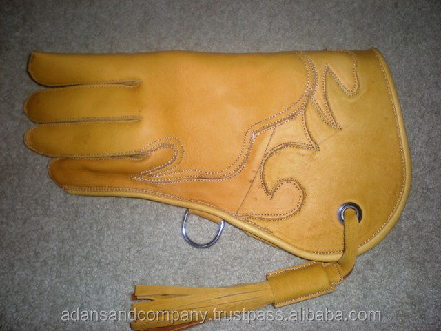 Cow Hide Nubuck leather 2 layerd Falconry Gloves