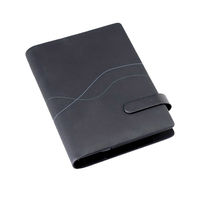 Planner organizer agenda size A5 with cover made from Italian PU leather