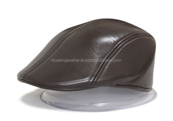 Men s(unisex)new Real Leather Beret   Newsboy Hat   Golf Hat - Buy ... ea79ed71f13