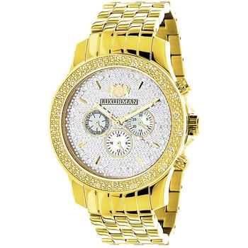 Verwonderlijk Geel Goud Toon Horloges: Luxurman Heren Diamanten Horloge 0.25ct TJ-39