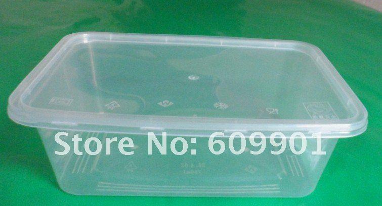 1000ml rechteckigen einweg mikrowelle kunststoff lebensmittel container box mit deckel in. Black Bedroom Furniture Sets. Home Design Ideas