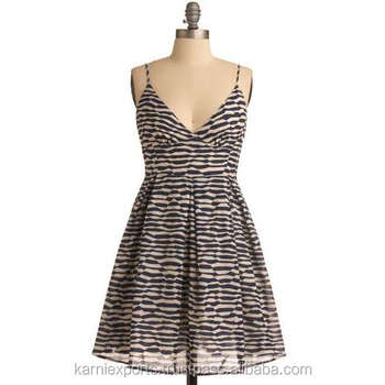 Halter Neck Beautiful Printed Bust Dress Sleeveless Cotton