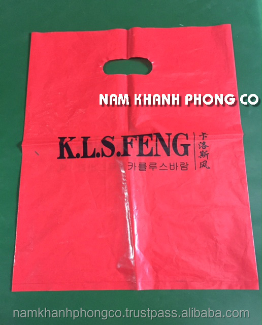 Punch out Die cut plastic bag for wholesale, shopping