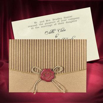 Rustic Wedding Invitation Card Invitations With Kraft Paper Buy