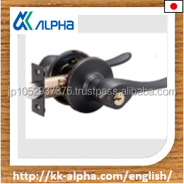 Japanese high quality door lever handle for passage. ALPHA corporation