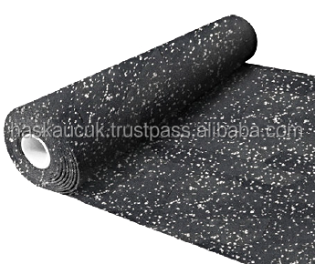 9mm SBR ROLL With %20 BLUE EPDM - EN71 Approved Recycled High Density Safety Floor for GYMS