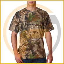 Short sleeve cheap camo t-shirt cotton t-shirt for hunting from BJ Outdoor