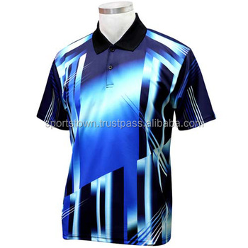 Latest custom design die sublimation printing men 39 s polo for Custom printed polo shirts cheap