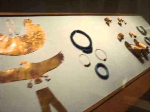 Ancient Egyptian gold sandals, toe & finger stalls.wmv