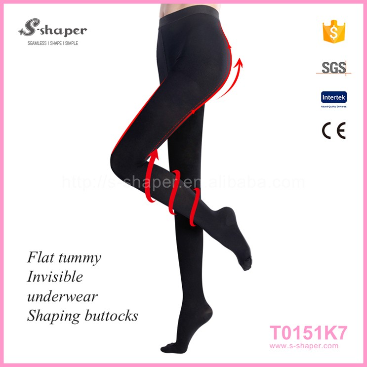 Women'S Black Sexy Reinforced Heel And Toe Pantyhose