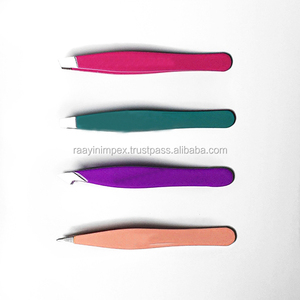 Professional Cosmetic Plastic Eyebrow Tweezers Eye Brow Tweezers Factory