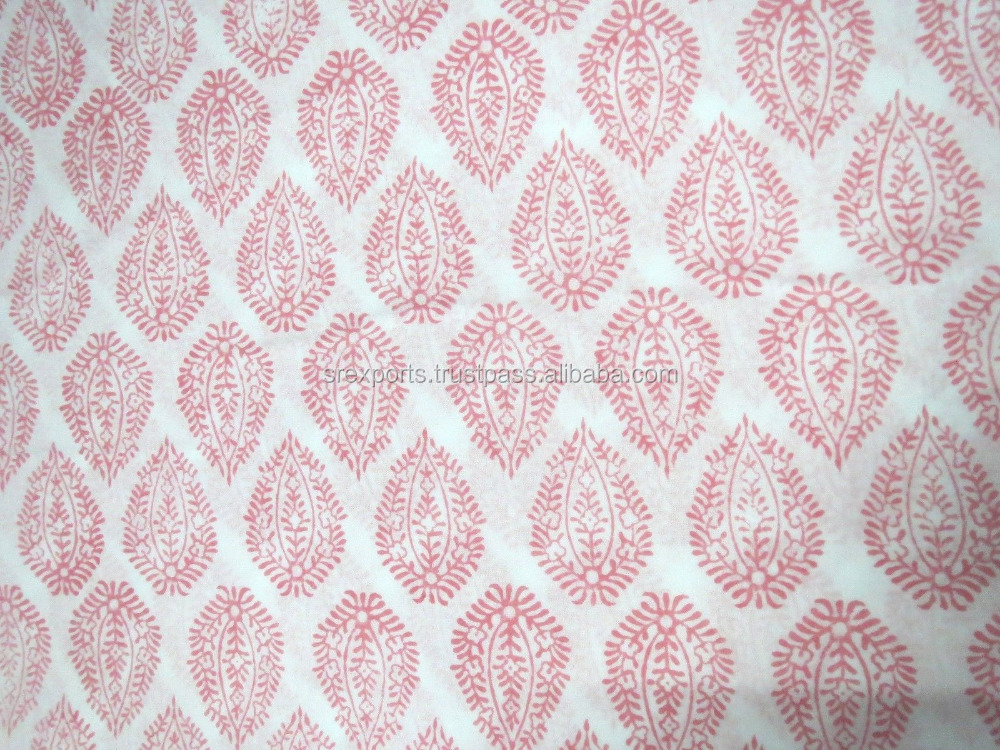 Hand Block printed Natural Sanganeri Fabric Cotton Craft Sewing Dress Material Curtain Clothing Beautiful Print Fabric Wholesale