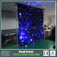 High Quality Pipe Drape System Flash Led Light Star Curtain Light