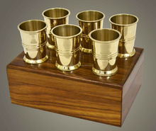 Expensive Brass Cup Set Of 6 Brass Rum Cup Gift set Nautical Gift Item