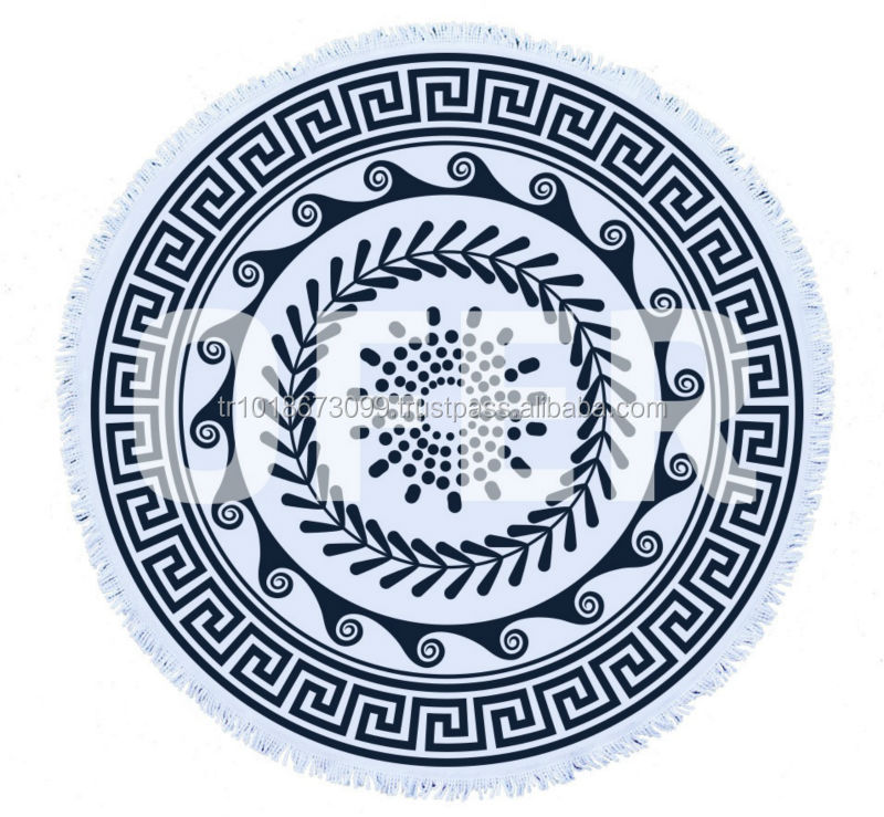 Round beach towel Made in Turkey. excellent quality, 150cm 60 inch diameter