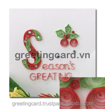 Christmas Painting Quilling Decorative Christmas Card Buy Europe