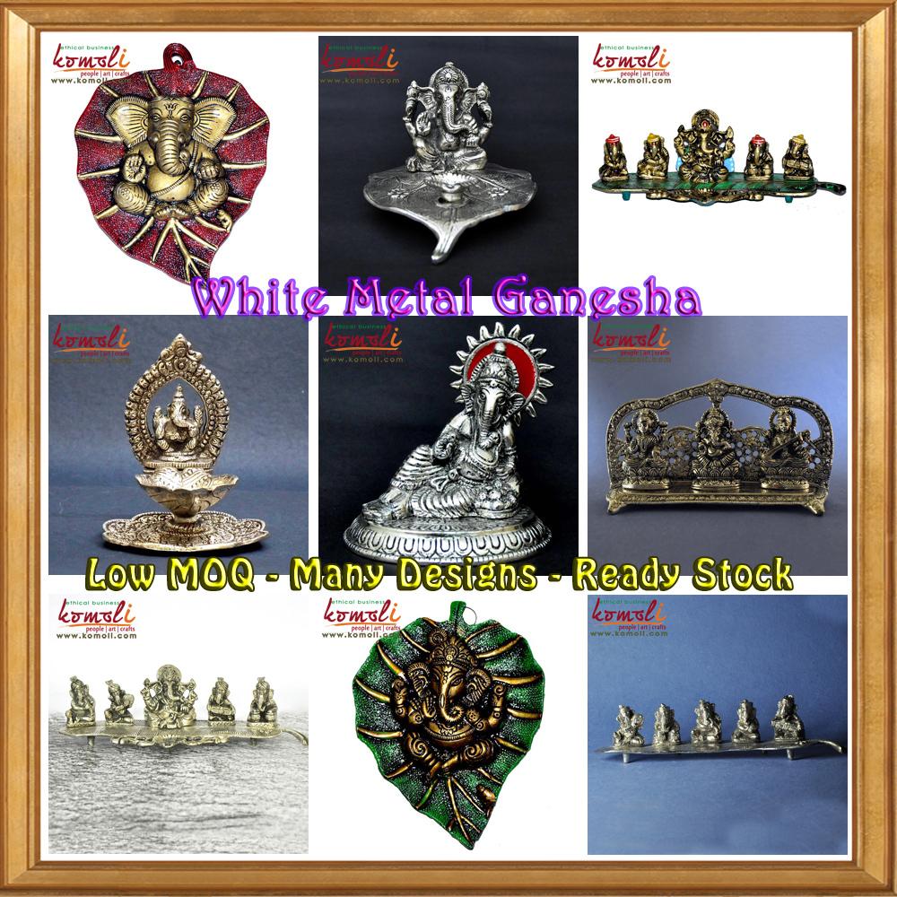 Collection Of Hindu God Ganesh Statue Metal Murti Ganesha Wedding Favor