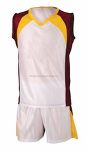 Yellow/Red panel style Basketball Uniform wholesale price direct to factory I.M International