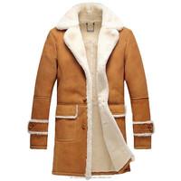 Men's Shearling Sheepskin Leather Trench Coat