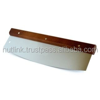 Stainless Steel / Walnut 14-inch Pizza Cutter