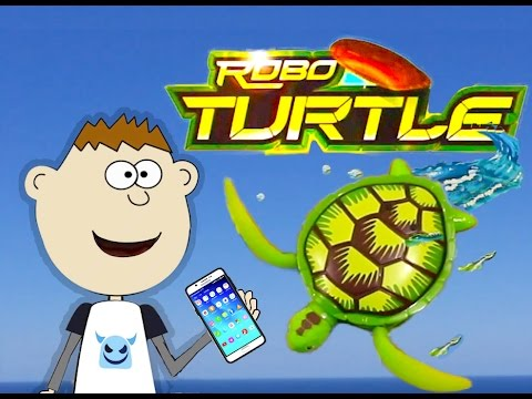 Robo Turtle Robotic Turtle Swimming Toy Play Set Review Unboxing - Zuru Lifelike Walking Sea Turtle
