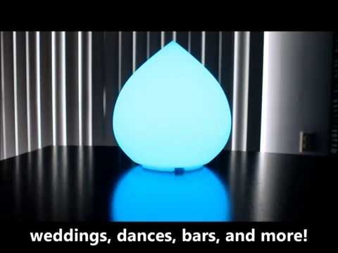 Indoor/Outdoor LED Color Changing Waterproof Teardrop Table Mood Glow Lamp - Party Light