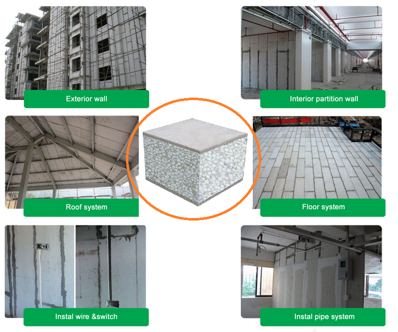 Easy Carry Fire Rated Light Weight Eps Sandwich Panel For Floor