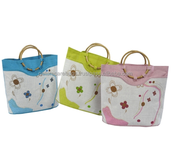 7b21a3f03a Ladies Fashion Shopping Nature Jute Tote Bag With Round Handle - Buy ...