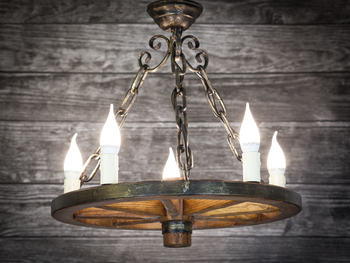 Kronleuchter Mit Langer Kette ~ Lampe holz rad kronleuchter kreis kette restaurant bower arbor 50 cm