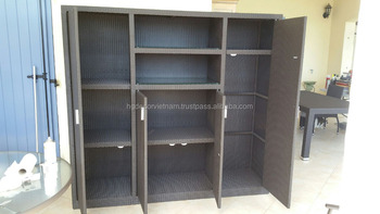 neuer outdoor polyrattan schrank weidenschrank weidenm bel vietnam buy outdoor rattan schrank. Black Bedroom Furniture Sets. Home Design Ideas