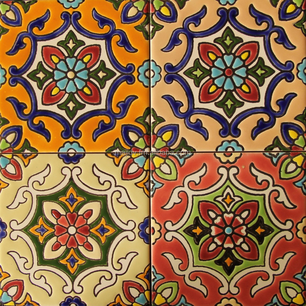 Hand Painted Ceramic Decorative Tiles good for Interior - Exterior - Backsplash