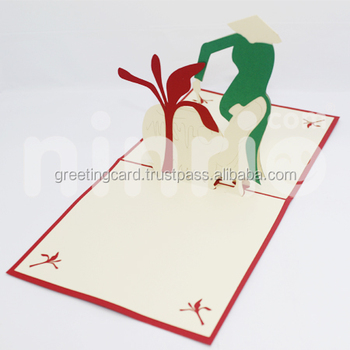 Vietnam Girl Pop Up Card Handmade Greeting