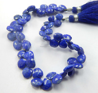 Natural Top Quality lapis pear Faceted Briolettes