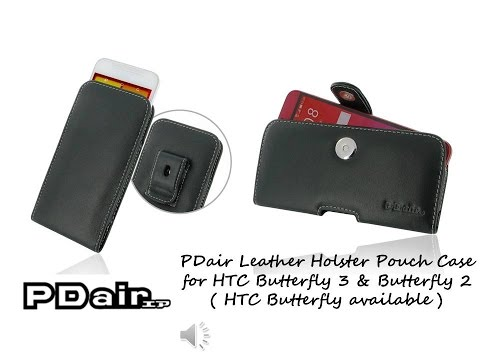 PDair Handmade Leather Pouch Holster Case for HTC Butterfly 3, HTC Butterfly 2 HTC Butterfly )