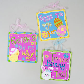 WALL PLAQUE EASTER CARB MDF