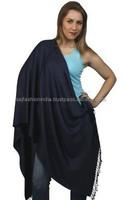wholesale HIGH QUALITY WOMEN SCARF PASHMINA WITH FRINGE SOLID BLACK FASHION SHAWL stole Viscose pashmina Scarves shawls 2016