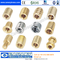 Different types of Brass m4 steel thread insert