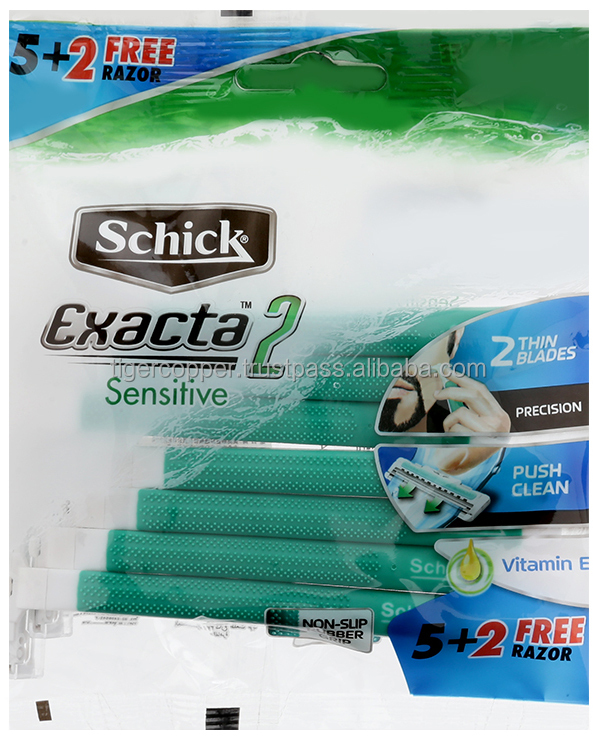 SCHICK EXACTA 2 DISPOSABLE RAZOR PACK 5 + 2'S