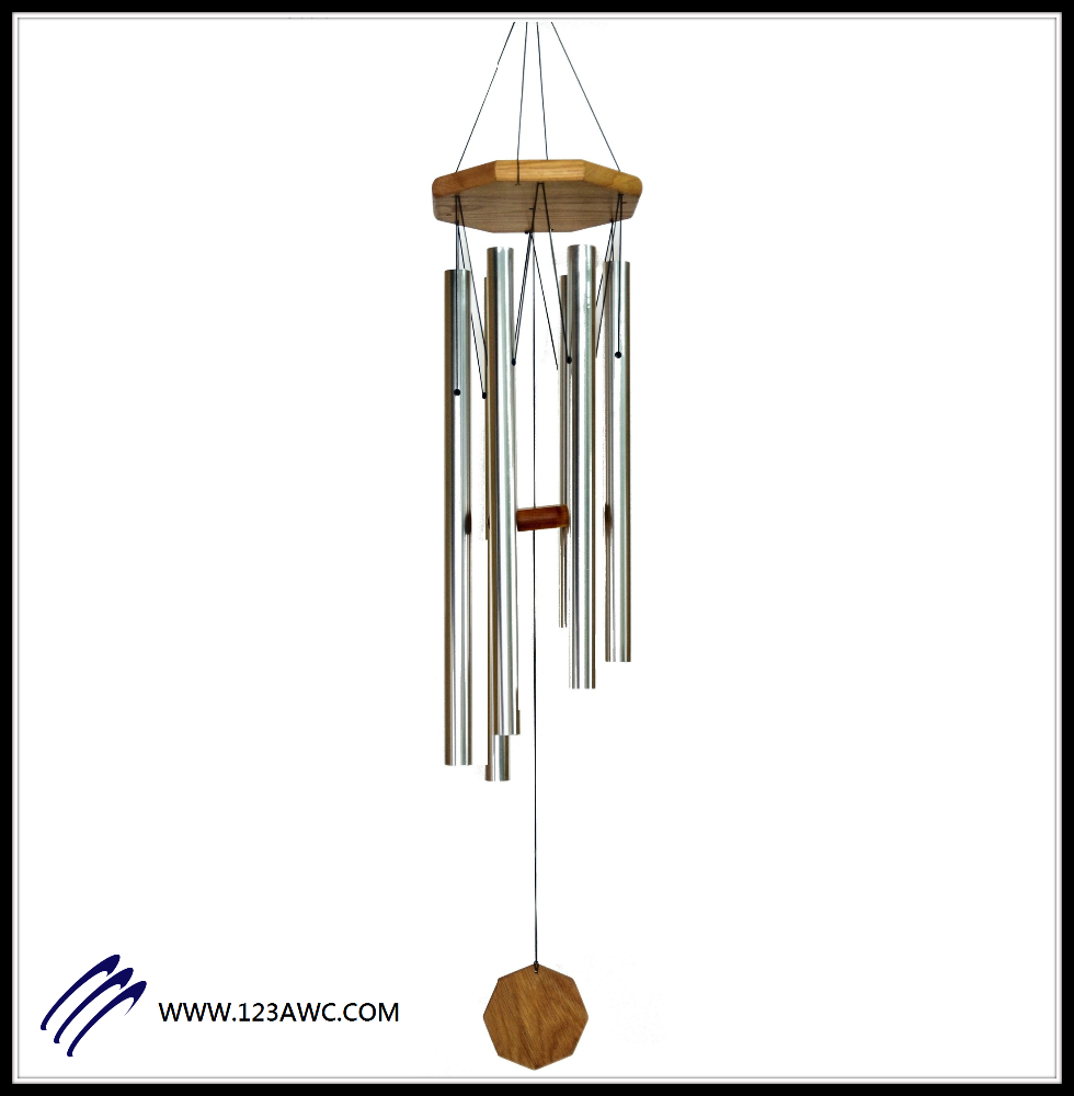 "40"" Silver Tuned Tube Wind Chime"