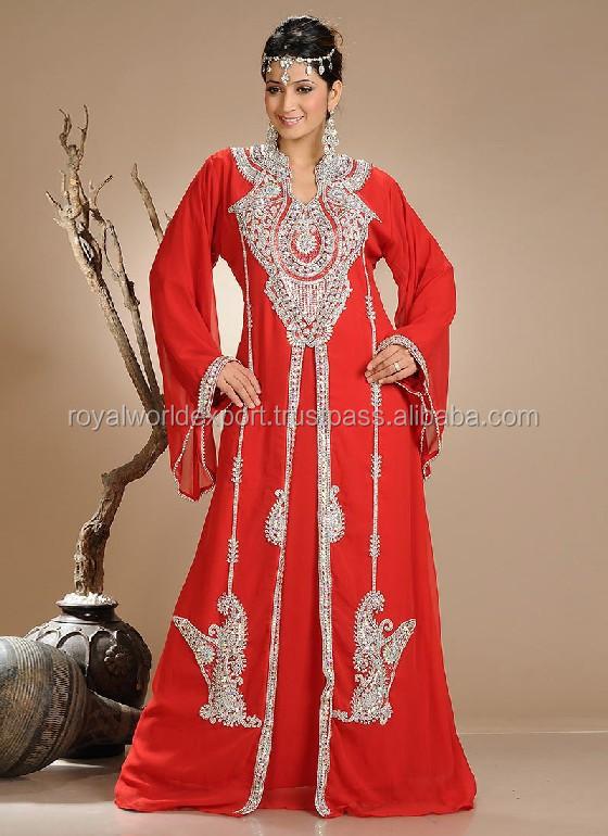 Muslim Bridal Wear Moroccan Wedding Kaftans Dubai Very Fancy Kaftans Abaya Jalabiya Ladies Maxi Dress Luxury Wedding Gown Buy Arab Muslim Wedding