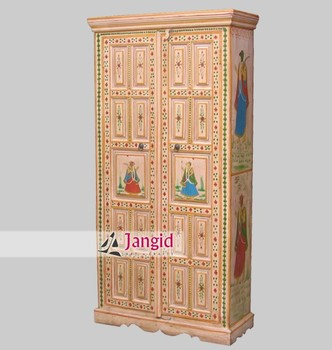 Indian White Painted Bedroom Wardrobe Designs Wooden Furniture
