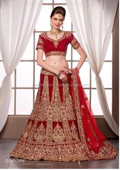 81ad1eb501d5 Red Heavy Embroidery Bridal Lehenga - Buy Red Bridal Lehenga,Heavy ...