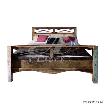 vintage recyceltem teakholz m bel bett kopfteile buy product on. Black Bedroom Furniture Sets. Home Design Ideas