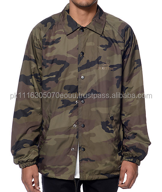 custom made high quality coaches jackets,fashionwear made nylon material coaches jackets,camouflage