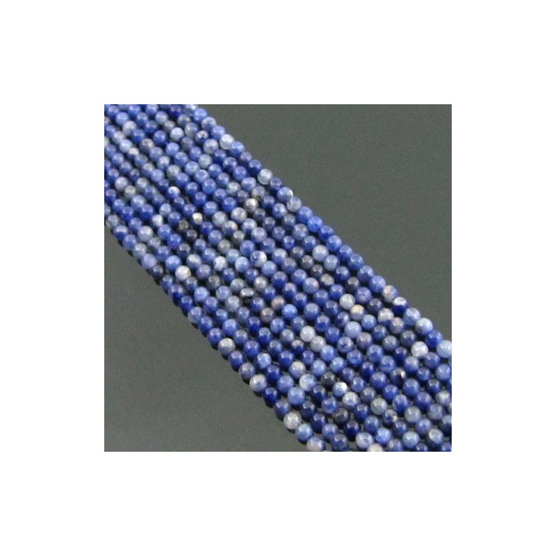 Sodalite 2-2.5mm Smooth Beads Strand