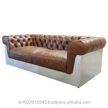 genuine leather aviator chesterfield sofa, chesterfield leather sofa for sale