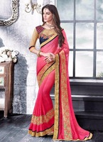Bollywood Designer Wedding Sarees Party Wear Ethnic Sari Fast Shipping