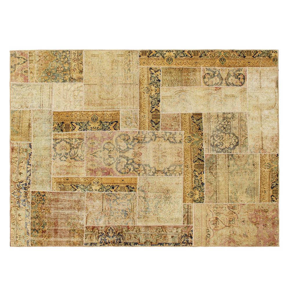 Antique Wool Patchwork rug, Patchwork for sale, Hand Knotted wool Area Patchwork Rug
