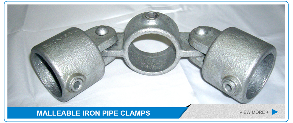 Frame structure malleable iron pipe clamp fitting bracket